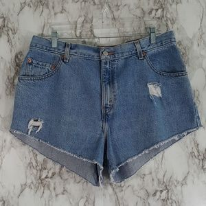 Levi's 550 Distressed Cutoff Jean Shorts 16 SS41